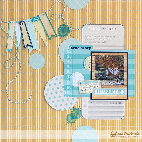 I Treasure This Layout by Juliana Michaels #ellesstudio
