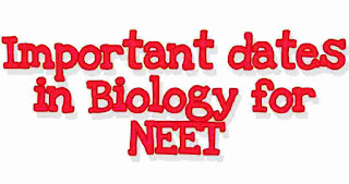 Important Years For NEET 2021 & Important dates in Biology for NEET