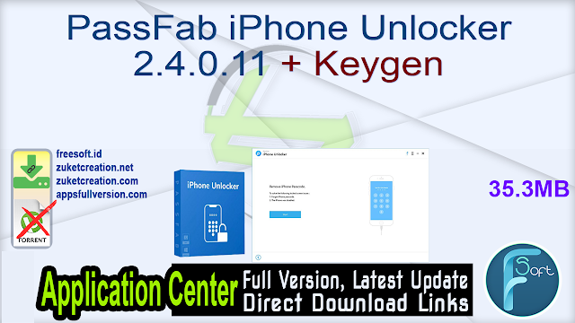 PassFab iPhone Unlocker 2.4.0.11 + Keygen
