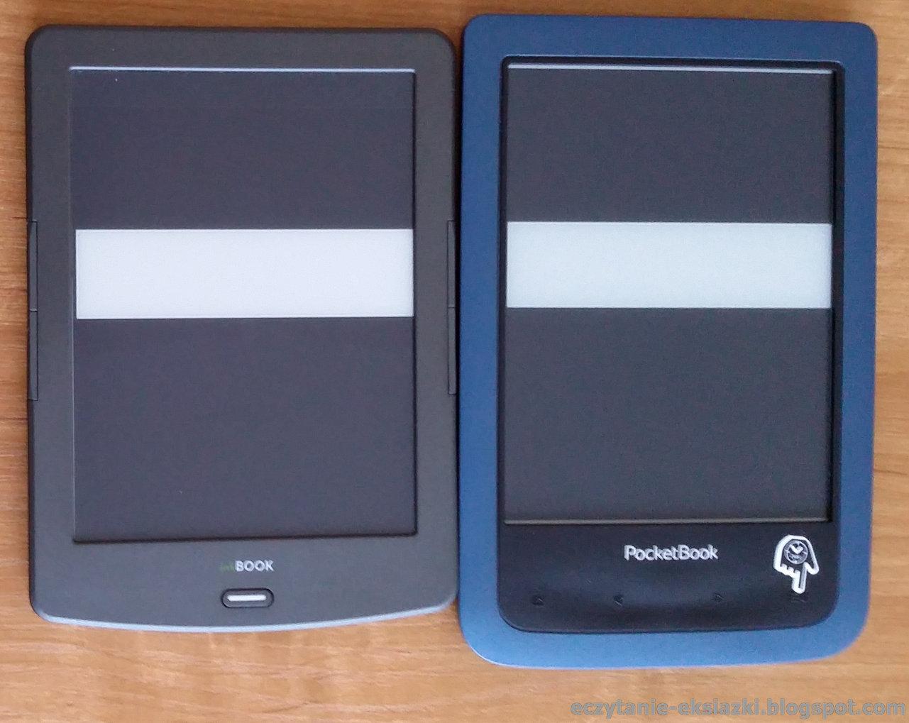 InkBOOK Claassic 2, PocketBook Aqua 2 - nasycenie czerni