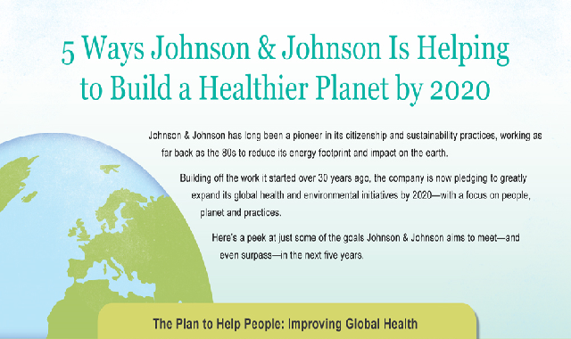 5 Ways Johnson & Johnson Is Helping To Build A Healthier Planet 2020 #infographic
