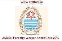 JKSSB Forestry Worker Admit Card