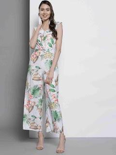 women-flower-printed-basic-jumpsuit