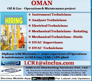 Oil and Gas operations Maintenance Project in Oman