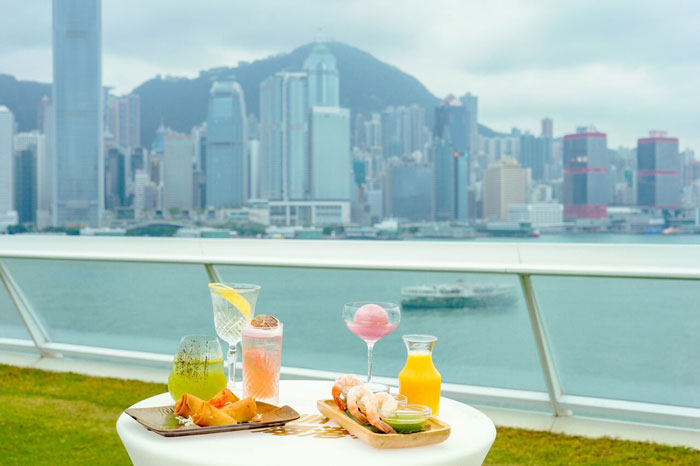Harbour City invites you to wine tasting and fine dining with a stunning view of Victoria Harbour