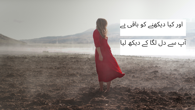 urdu shayari - poetry in urdu - 2 line poetry for facebook and whatsapp status, daikhna sad or dard shayri