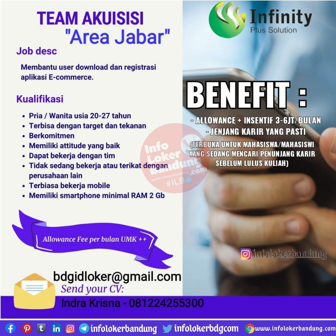 Lowongan Kerja PT Infinity Plus Solution Bandung Januari 2021