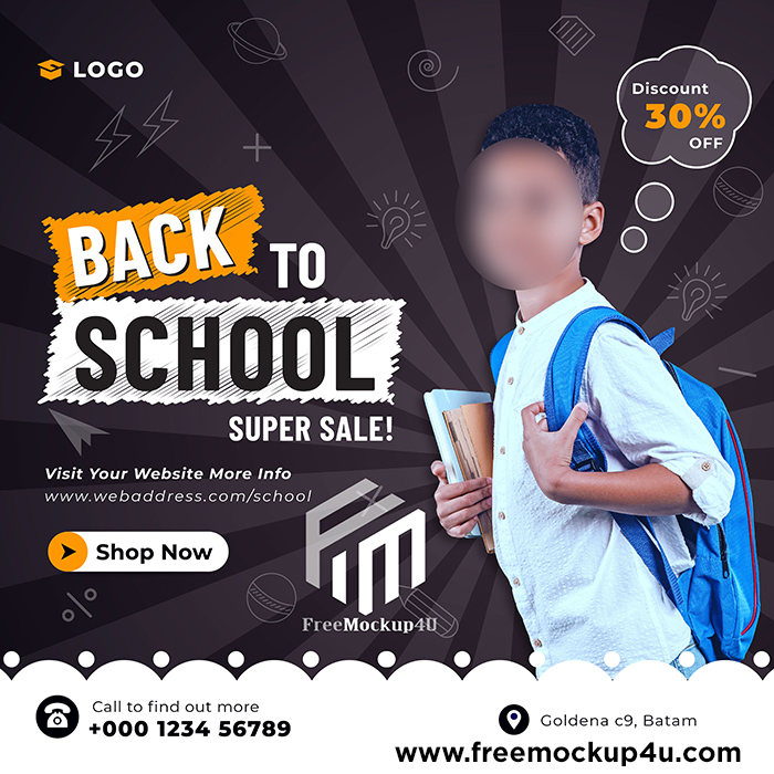 Back to School Admission Social Media Post Banner Template