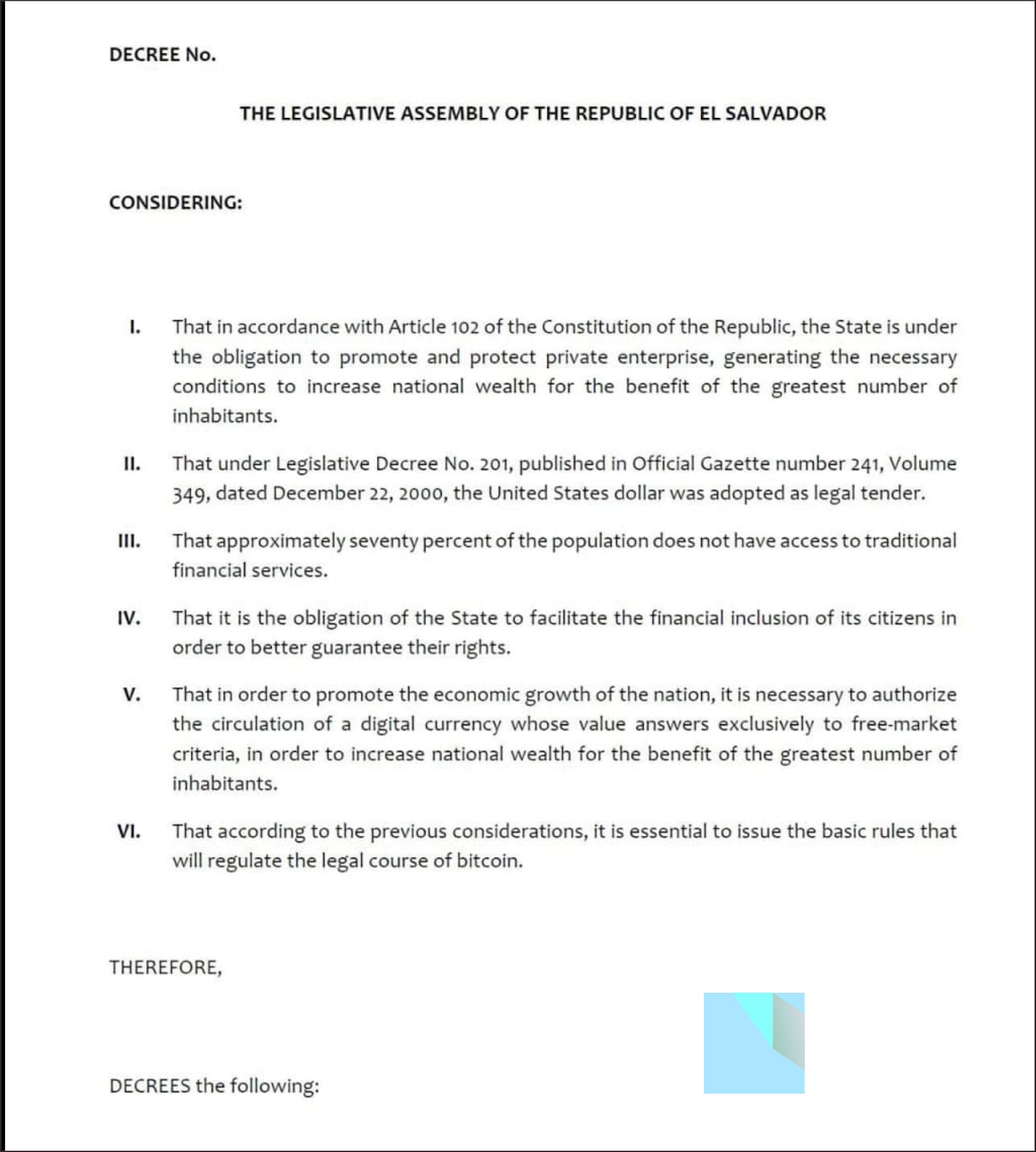 Doc Pengajuan undang-undang Bitcoin El Savador 2