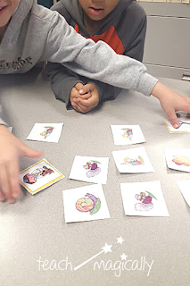 Teach Magically students playing rhyming memory