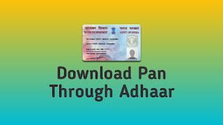 Adhaar Card Se Pan Card Kaise Banaye