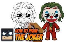 joker draw cartoon easy drawings drawing chibi cartooning myhobbyclass