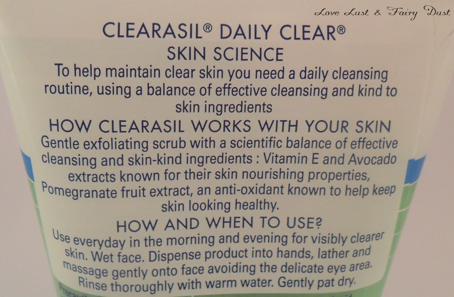 Clearasil Daily Clear Vitamins & Extracts Scrub review