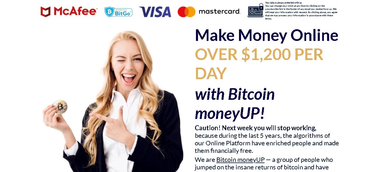 Verdienst mit Investitionen mit Entnahme - Bitcoin UP