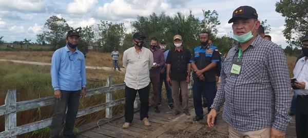Cek Lokasi Ketahanan Pangan Nasional, Kapolda Kalteng Kunjungi Desa Petak Batuah