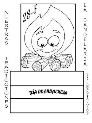 Día de Andalucía para colorear