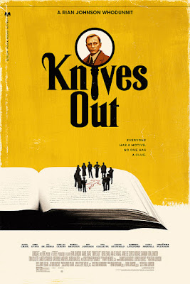Knives Out Movie Poster Screen Print by Phantom City Creative x Mondo