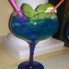cockail azul del mago del gin tonic
