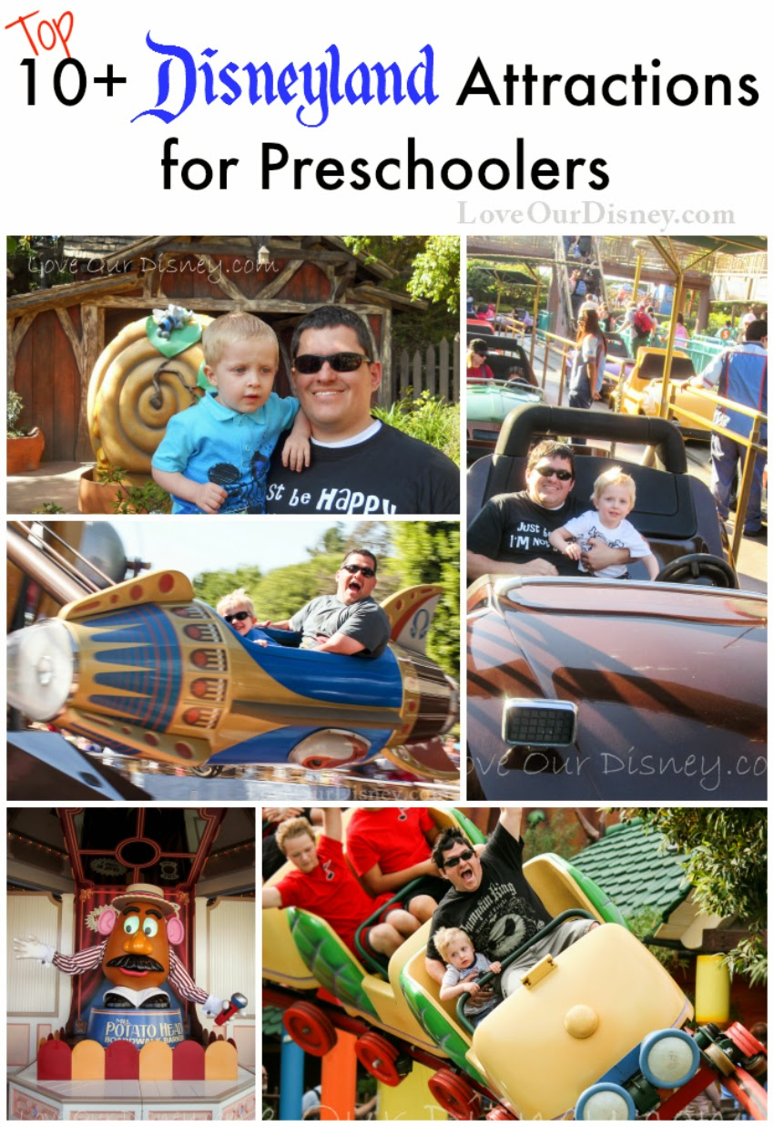 The top 10+ attractions for preschoolers at the Disneyland Resort from LoveOurDisney.com