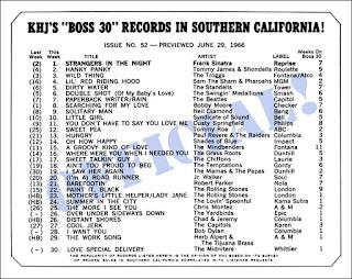 KHJ Boss 30 No. 52 - June 29, 1966