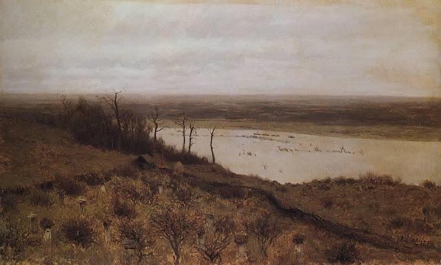 Исаак Ильич Левитан - Разлив на Суре. 1887