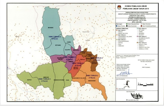 Wilayah Dapil Tana Toraja Bertambah Satu, Tiga Wilayah Alami Perubahan