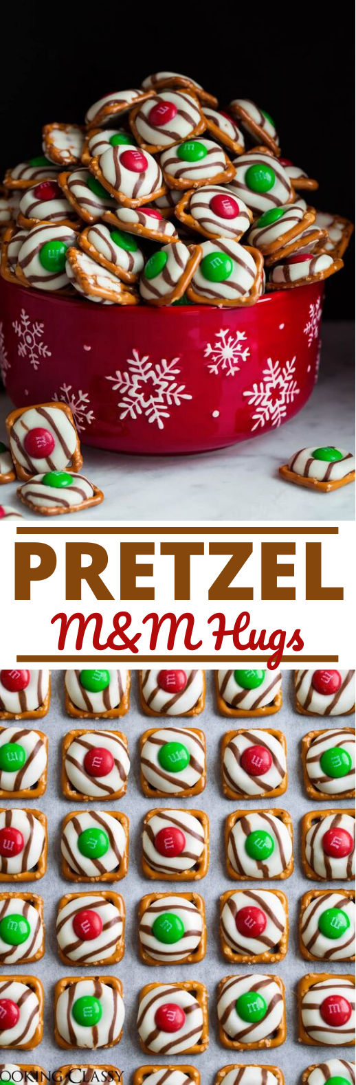 Pretzel M&M Hugs #desserts #cookies #candy #christmas #holiday