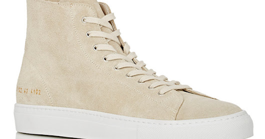 Men -  Common Projects Tournament High-Top Sneakers (@Achilles1528) | looty