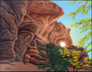 Bryce Canyon National Park,Utah,West,red rocks,arch,columns,art,painting,natural color,autumn,fall,maple,sun,sunburst