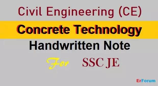 concrete-technology-handwritten-note-ssc-je