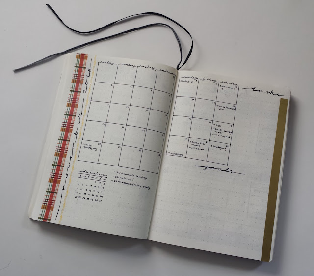Bullet Journal Monthly Layouts November Monthly Overview
