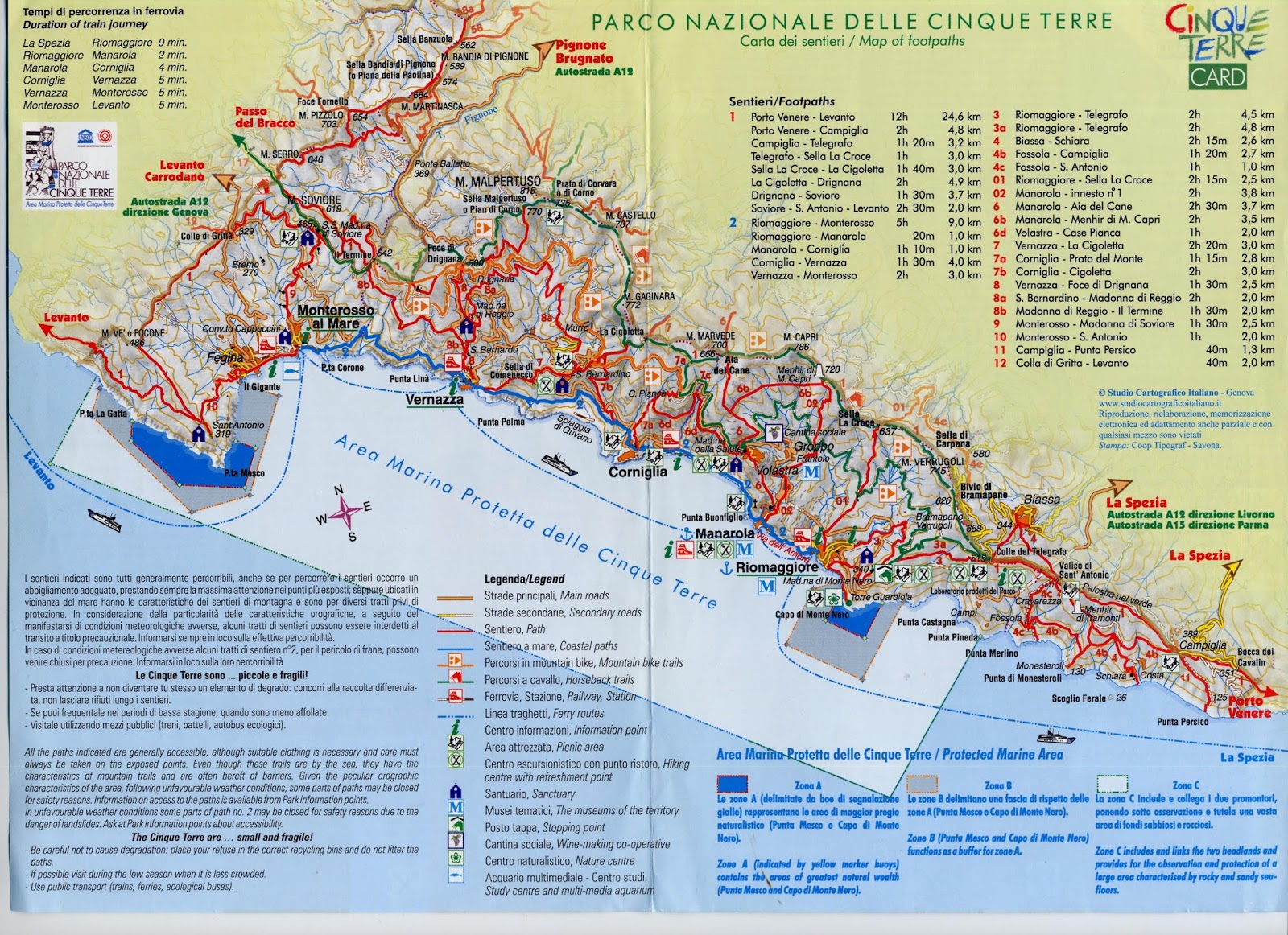Italy Map Pdf.A Path To Lunch Cinque Terre Guide 2019