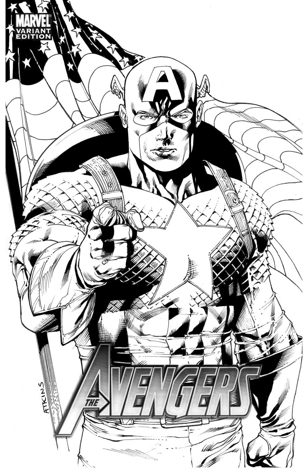 Robert Atkins Art: Captain America Grade 12....