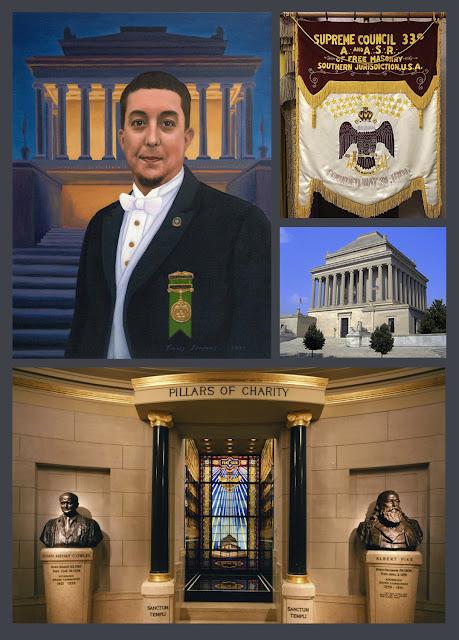 Travis Simpkins Paints Portrait for the House of the Temple. Supreme Council, 33°, SJ. Scottish Rite