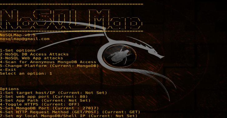 NoSQLMap : Automated NoSQL Database Enumeration & Web Application Exploitation Tool