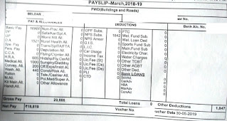 Haryana Group D Job Salary Slip