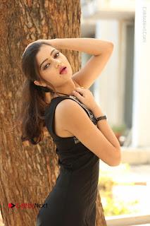 Actress Poojitha Pallavi Naidu Stills in Black Short Dress at Inkenti Nuvve Cheppu Movie Platinum Disc Function  0091.JPG