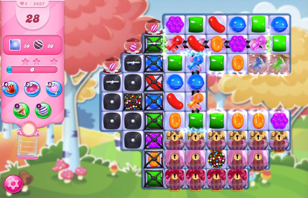 Candy Crush Saga level 5837