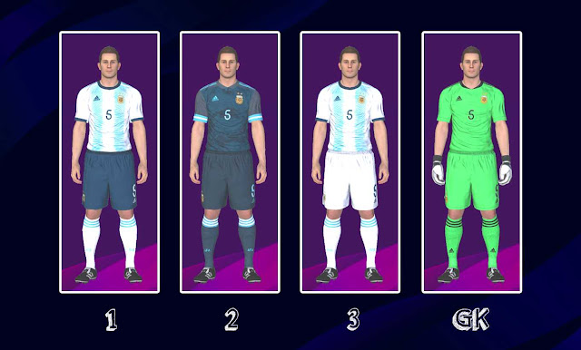 PES 2017 Argentina 2020 Kits by Kitmaker ZSC