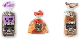 Vegan bread in a plastic bag