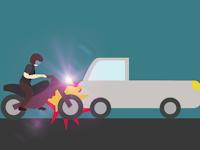 Serempet Mobil Pick Up Seorang Pengendara Motor di Pangkep Meregang Nyawa