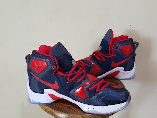 Sepatu Basket Nike LeBron 13 Navy Red