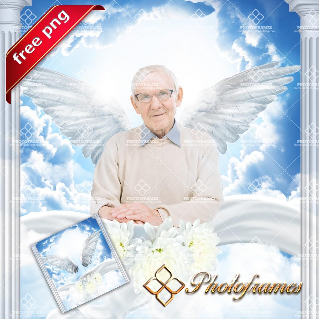 Fondo de cielo para hacer fotomontajes con fotos de persona fallecida