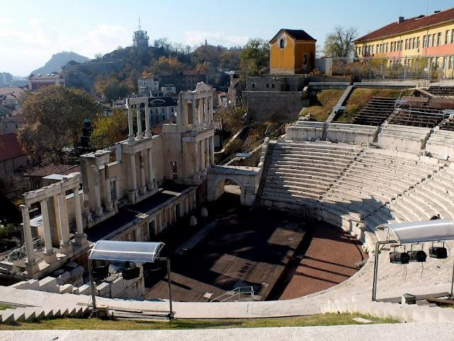 teatro romano en plovdiv bulgaria