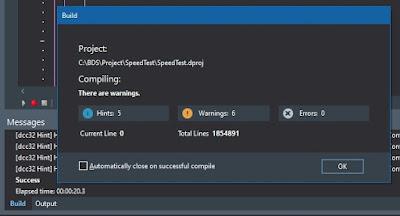 Delphi 10.3.3 Win32