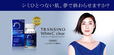 Kết quả hình ảnh cho Viên Uống Trắng Da Transino White C Clear 120v