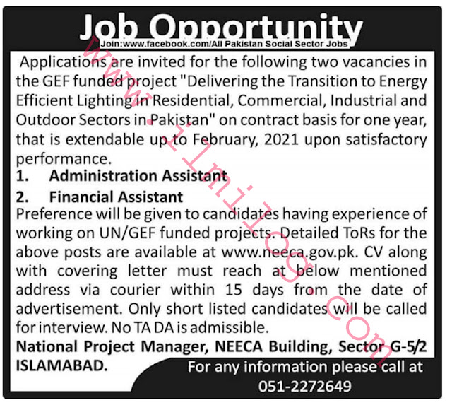 Contract Basis Jobs Islamabad