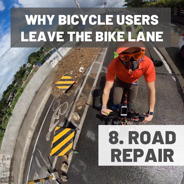 Road repairs along bike lanes