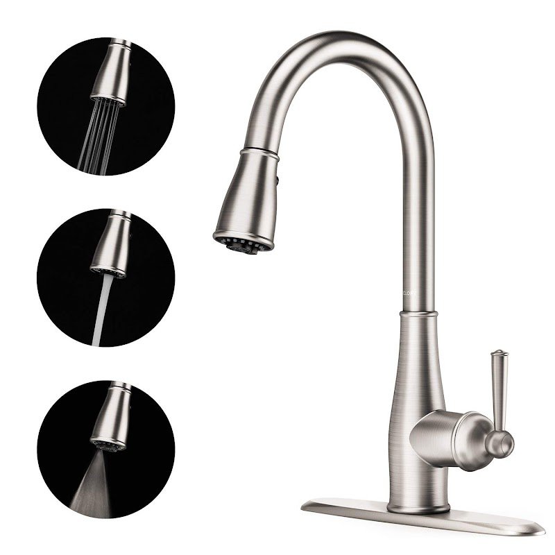 AMAZON - 60% OFF 3 Function Spray Brushed Nickel Pull out Kitchen Faucet