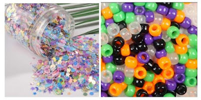 sequins and beads